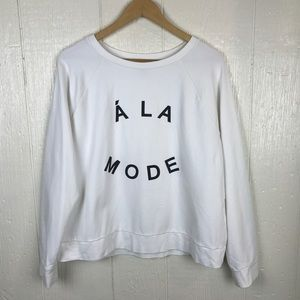 Banana Republic cream sweatshirt ala mode graphic
